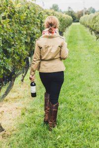 walking-through-vineyard